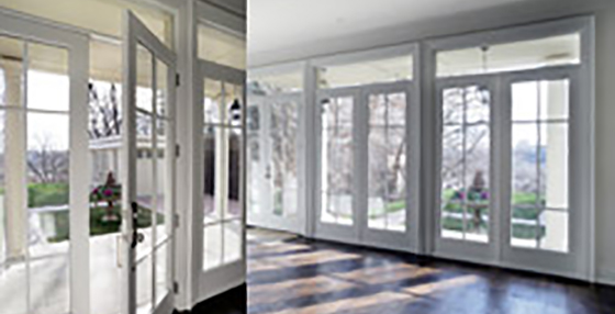 Sliding glass patio doors and French doors